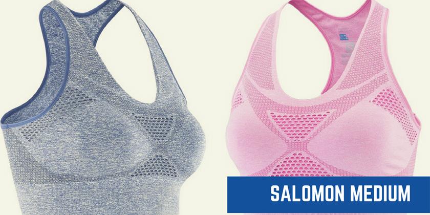 Los 5 mejores sujetadores deportivos con relleno - Salomon Medium Impact Bra