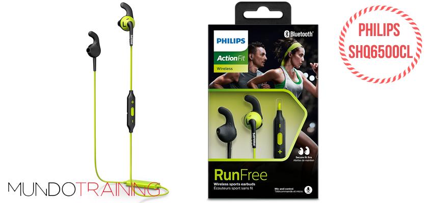 Los mejores auriculares inalámbricos para correr 2018 - Philips SHQ6500CL