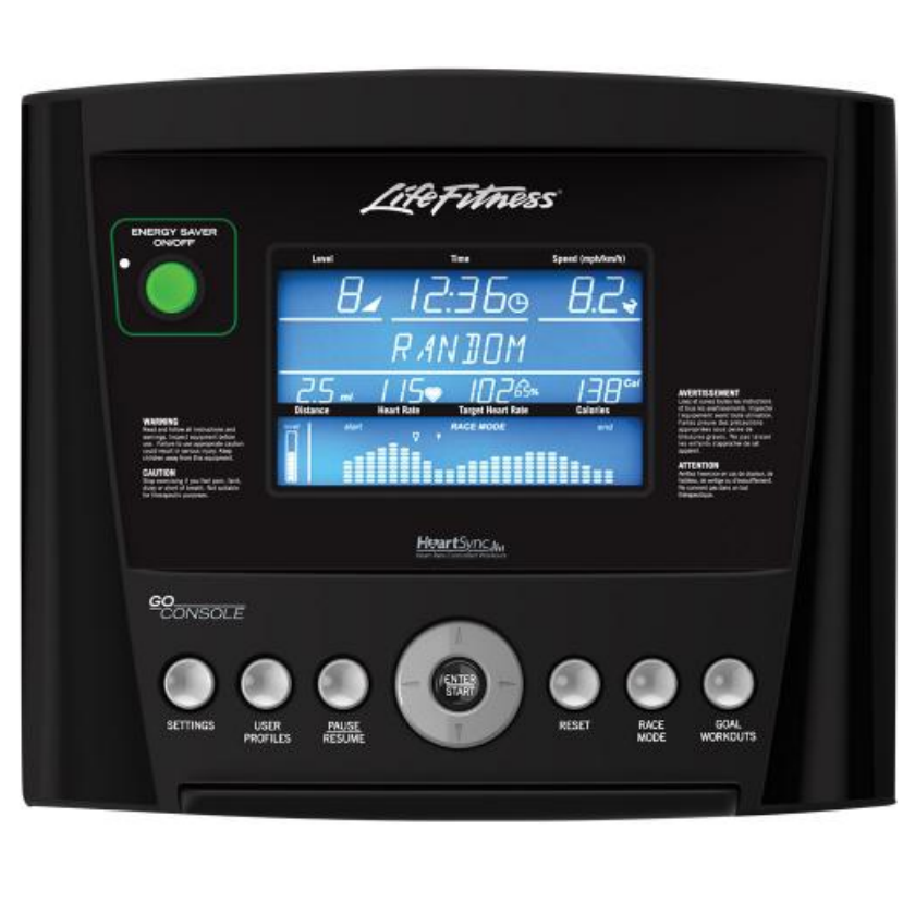 Life Fitness T3 Track Connect monitor