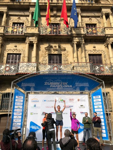 victoria en media maraton con academy win