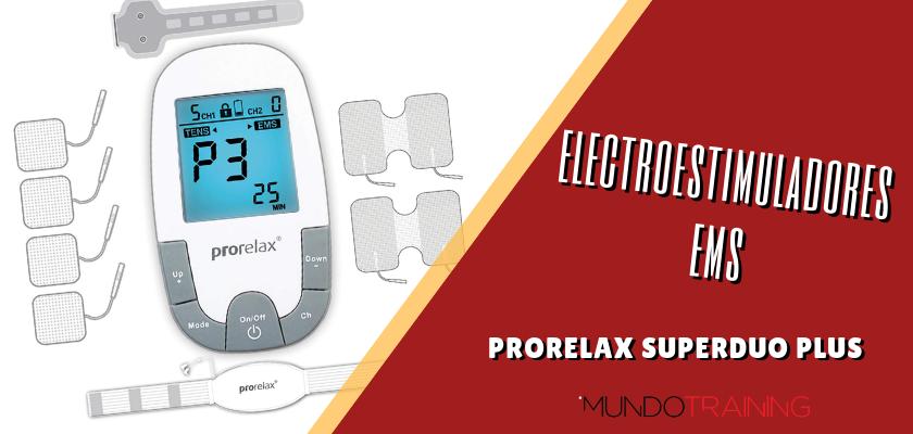 Electroestimuladores en el entrenamiento de runners - Prorelax SuperDuo Plus