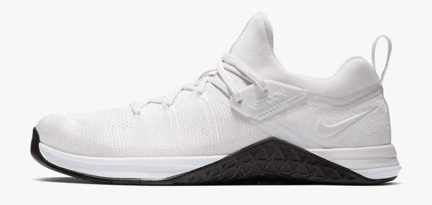 Nike Metcon DSX Flyknit 3, colores: Blanco/Tinte Platino/Negro - foto 6