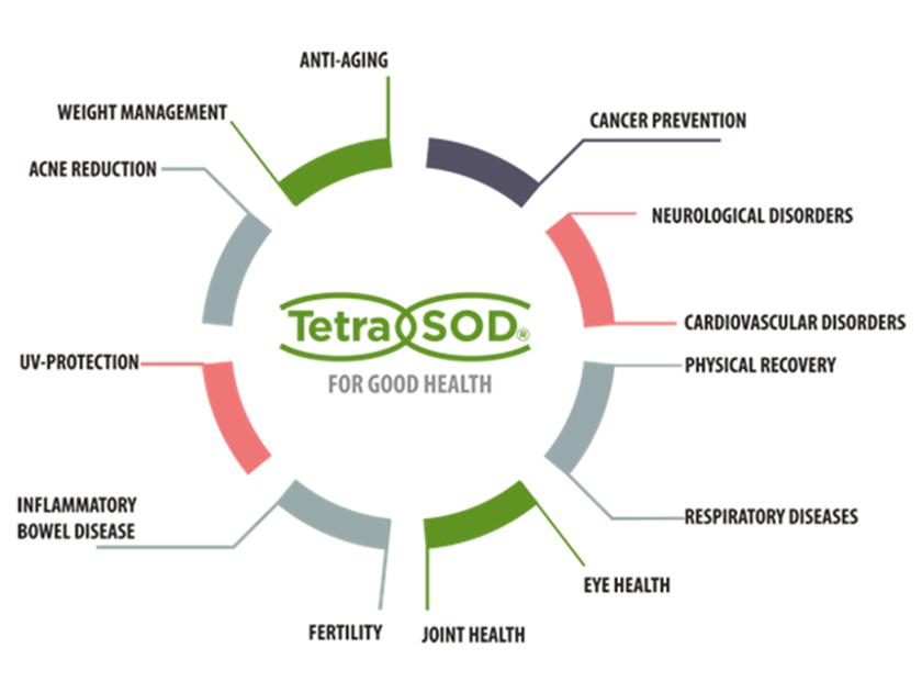 Suplementación dietética TetraSOD®, beneficios - foto 2
