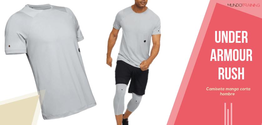 Colección textil Under Armour Rush - Camiseta de manga corta UA RUSH para hombre