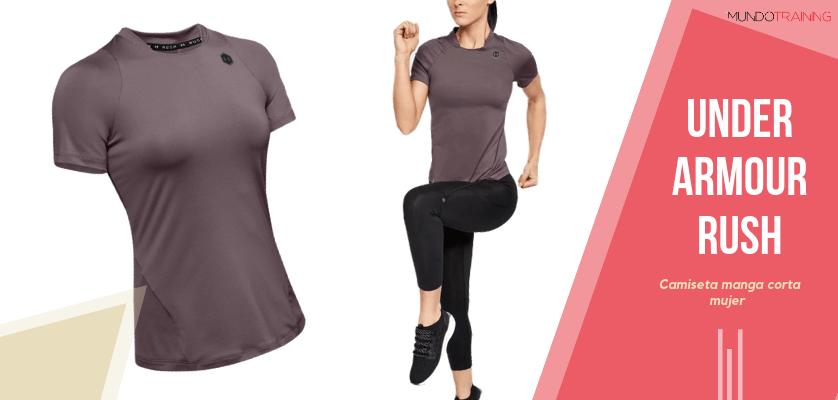 Colección textil Under Armour Rush - Camiseta de manga corta UA RUSH para mujer