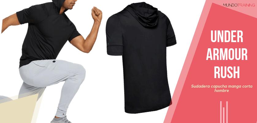 Colección textil Under Armour Rush - Sudadera con capucha de manga corta UA RUSH para hombre