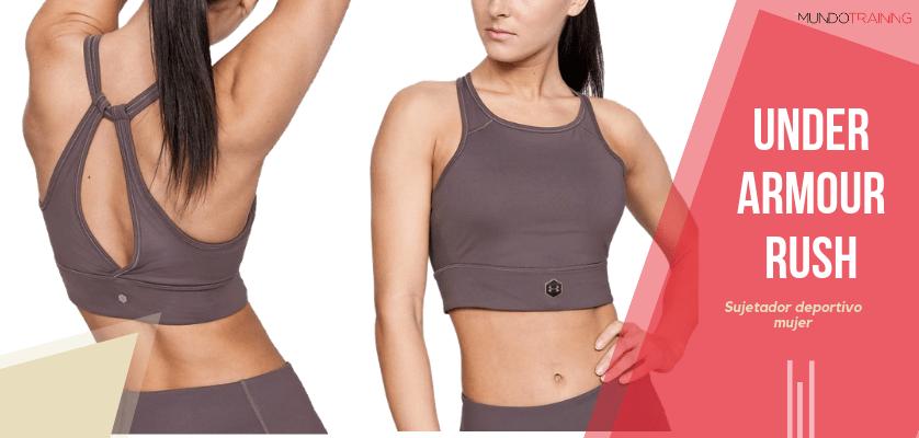 Colección textil Under Armour Rush - Sujetador deportivo UA RUSH para mujer